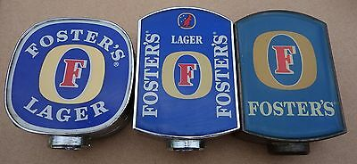Fosters Lager Vintage Beer Tap Tops X 3