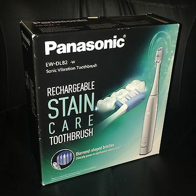 Panasonic Stain Care Sonic Vibration Rechargeable Electric Toothbrush, EW-DL82-W