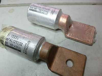 UTILUX BI-METAL CRIMP LUG -- Qty of 2 -- H15336 -- 630mm ALUM to COPPER