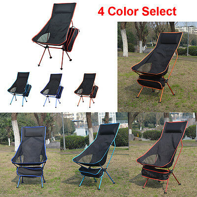 Folding Camping Chair Festival Hiking Fishing Garden Indoor Outdoor Seat W/pouch