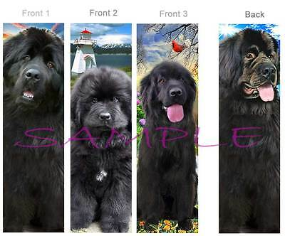 3 Lot-NEWFOUNDLAND BOOKMARK Black Dog ART Pup book mark CARD figurine Ornament