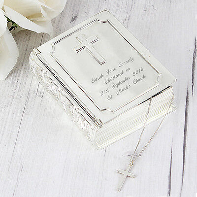 PERSONALISED HOLY BIBLE TRINKET 1st First Holy Communion Gift Idea Confirmation