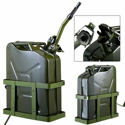 2Pack Jerry Can 5 Gallon 20L Fuel Army NATO Military Metal Steel Tank Holder