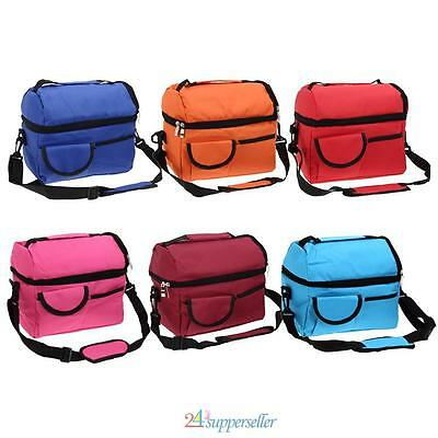 8L Portable Picnic Lunch Bag Thermal Cooler Waterproof Insulated Blue/Red/Orange