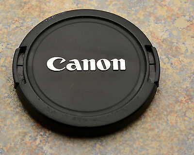 Canon EOS E 58mm Snap-On Front Lens Cap Chrome Logo 18-55 55-250 75-300 (#1597)