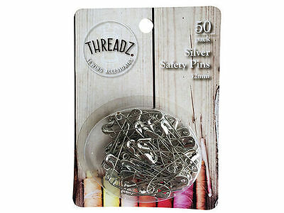96 50pk safety pins 32mm silver bulk wholesale lot craft