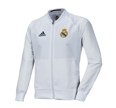 Adidas Real Madrid Full Zip-up Hood Jacket Training Top Aj1240 Soccer Football Clothing, Shoes & Accessories