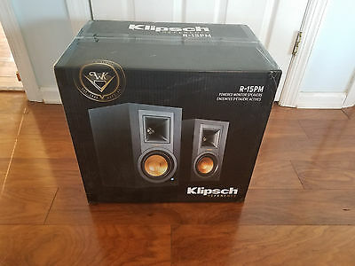 Klipsch R-15PM R15PM Powered Monitor Speakers with Bluetooth