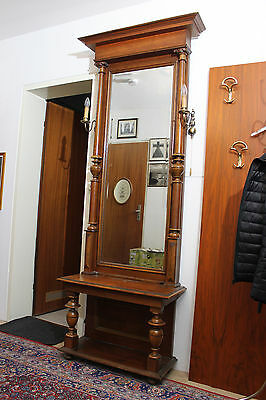 antiker spiegel mit konsole eiche jugendstil eur 750 00. Black Bedroom Furniture Sets. Home Design Ideas