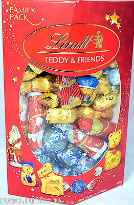Lindt Lindor Milk Chocolate Teddy & Friends Selection Christmas Chocolates NEW