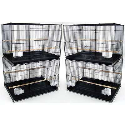 YML 4 Medium Breeding Cages, Black - 4x2474BLK