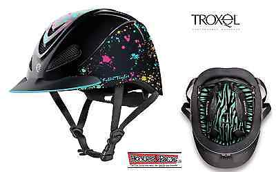 Troxel New Fallon Taylor Rave Splatter Safety Riding Helmet Low Profile Horse