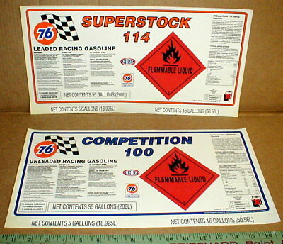 Union 76 Superstock 100-114 Octane Gasoline Drag NASCAR auto racing sticker Rare