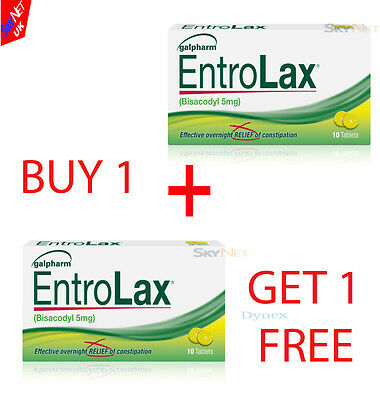 ENTROLAX 5mg 20 TABLETS  BISACODYL. CONSTIPATION .LAXATIVE   DULCOLAX)