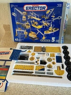 Erector Set Meccano Metal Construction Incomplete Set Please See Pictures.
