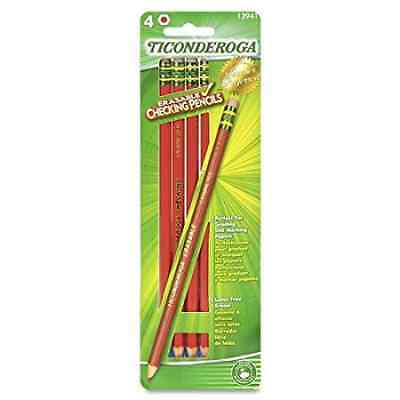 Dixon Ticonderoga Erasable Checking Pencils, Eraser Tipped, Pre-Sharpened, Pack