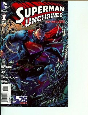 Superman Unchained #1 Signed Jim Lee