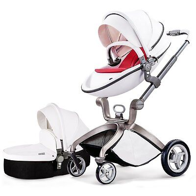 Hot Mom 3 in 1 Travel System and Bassinet Baby Stroller, White
