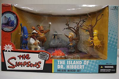 "The Simpsons #dabf19 McFarlane Toys ""The Island Of Dr Hibbert"" Deluxe Box Set"