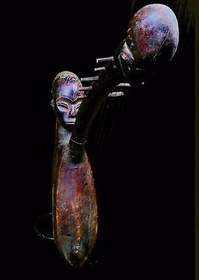 Old Tribal Luba Musical String Figure   -----D R Congo BN 26