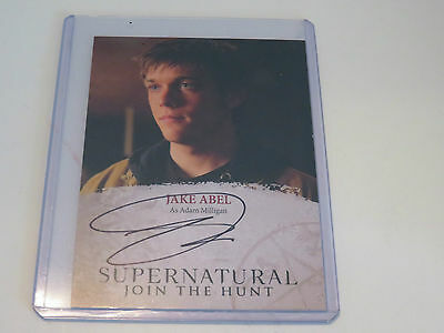 Autographed Jake Abel (Adam Milligan) Supernatural collectors card