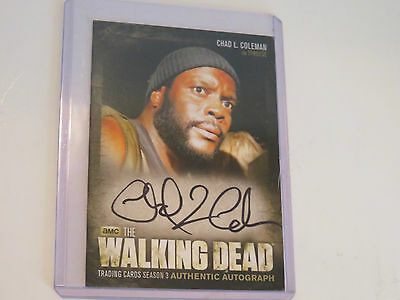 Autographed Chad L. Coleman (Tyres) The Walking Dead collectors card