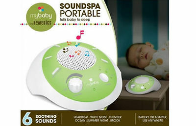 Homedics My Baby Sound Toy Soothing Heartbeat Portable Cot Musical Soothe Sleep