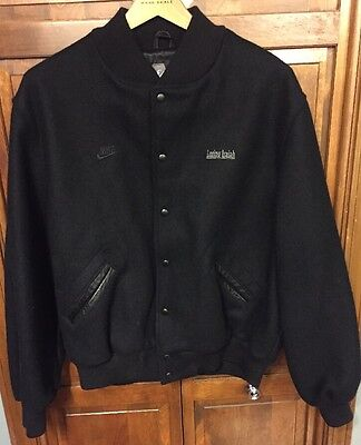 Nike Losing Isaiah Film Crew 1995 Halle Berry Black Wool Varsity Jacket Men XL