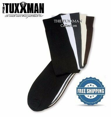 New Mens 5 Pair Formal Tuxedo Dress Socks Nylon TUXXMAN Bulk Set Gift Package