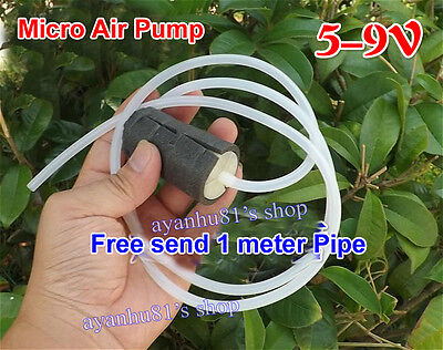 DC 5V-12V Micro Mini Air Pump Oxygen Pump + Silicone Pipe For Fish Tank Aquarium
