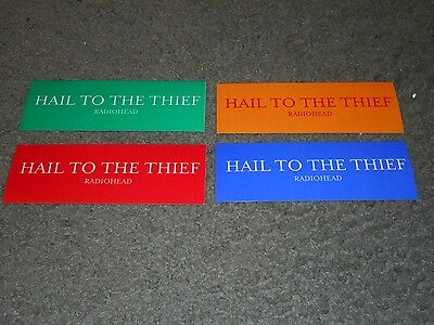 Radiohead - Hail To The Thief - Original Set Of 4 Stickers - 2003