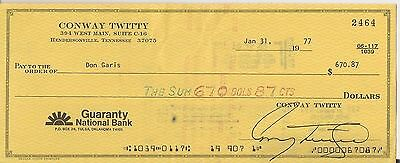 Country Music Legend Conway Twitty Signed Check