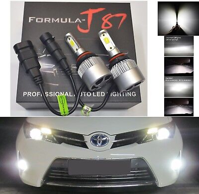 LED Kit N2 72W 9006 HB4 6000K White Two Bulbs Head Light Low Beam Plug Play OE