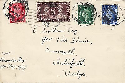 (92207) CLEARANCE GB FDC Coronation + Definitives London 13 May 1937