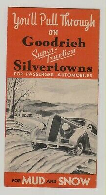 1936 Goodrich Silvertowns Tire Advertising Folder -- Blow-Out Protection