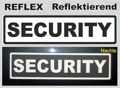 Security, reflektierendes Magnetschild