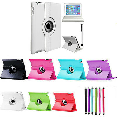 iPad Case Rotating Leather Stand Cover fit for iPad 234 Mini 123 iPad Air1 Air2