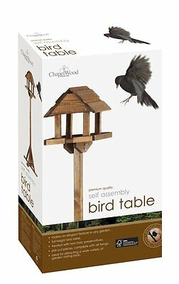 Chapelwood Premium Wooden Flat Packed Bird Table