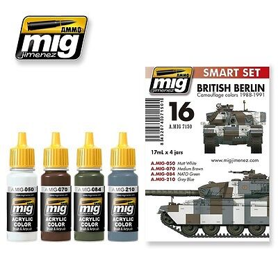 Ammo Of Mig Smart Set British Berlin Camouflage Colors 1988/1991 Cod.amig7150