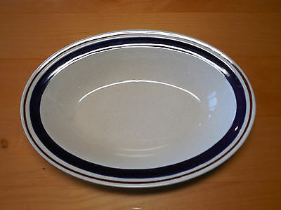 """Yamaka CONTEMPORARY CHATEAU Cobalt Blue Oval Vegetable Serving Bowl 10"""" A"""