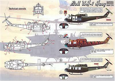 Print Scale Decals 1/72 BELL UH-1 HUEY Helicopter