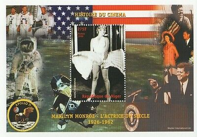 Marilyn Monroe History Of Cinema Iconic Pose Jfk Niger 1999 Mnh Stamp Sheetlet