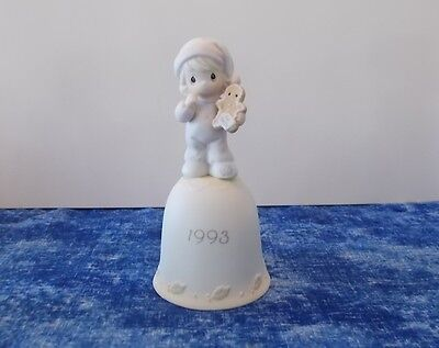 Precious Moments Porcelain Bell 1993 Wishing You the Sweetest Christmas