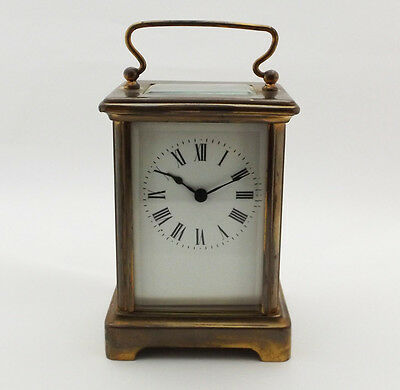 Early/Mid 20th Century French Brass Cased Carriage Clock | Roman Dial