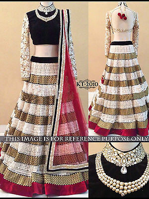 Indian Designer Lehenga Choli Bollywood Fashion Work Style Partywear KT-2010
