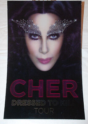 "Cher ""Dressed to Kill Tour"" 3D Holographic Promo Poster 11"" x 17"" LGBTQ"