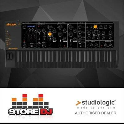 Studiologic Sledge 2.0 w/ Waldorf Synth Engine & Upgraded Keyboard (Black)