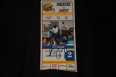 Kevin Barry Signed Autographed 2004 Green Bay Packers Lambeau Field Ticket Stub