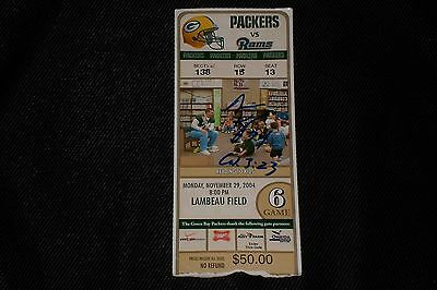 Aaron Kampman Signed Autographed 2004 Green Bay Packers Ticket Stub Very Rare!