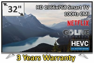 "TCL 32"" HD LED Smart Netflix TV Brand New 32E4900S 3 years Warranty"